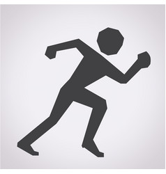 running sport icon vector image