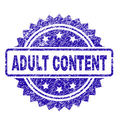 Scratched adult content stamp seal vector