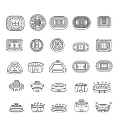 Selfie video photo people icons set outline style vector