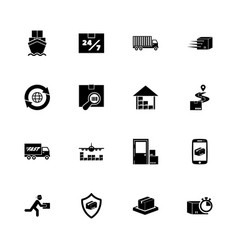 shipping delivery - flat icons vector image