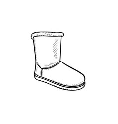 soft boot hand drawn outline doodle icon vector image