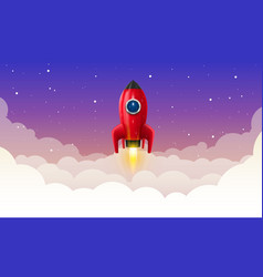 Space rocket launch art creative vector