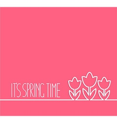 Springtime card on pink background vector image vector image
