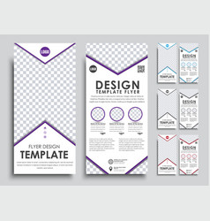 Template white flyer size of 210x99 mm vector