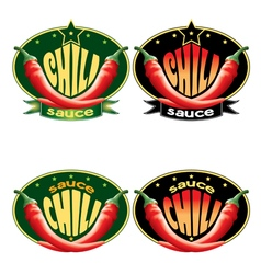 templates labels for sauce chili vector image