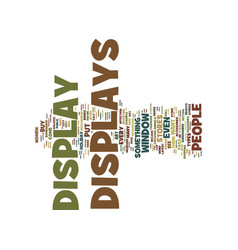 the art of display text background word cloud vector image
