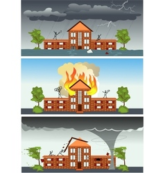 Three disasters vector image