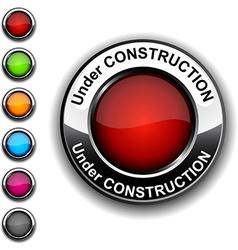 Under construction button vector