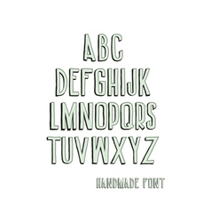 Vintage alphabetic fonts vector image