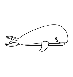 whale fish isolated icon vector image
