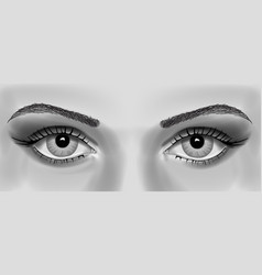 womens eye realistic vector image