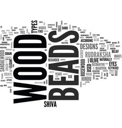 Wood beads text word cloud concept vector