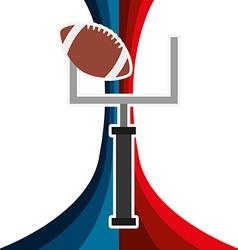 american football design vector image vector image