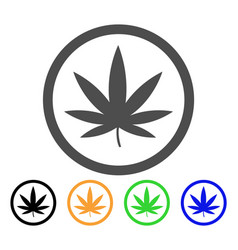 cannabis flat icon vector image