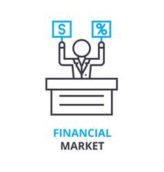 financial market concept outline icon linear vector image