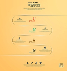 infographics template 2 vector image