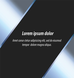 metal abstract layout background and design vector image