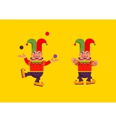 a jester character for halloween in vector image