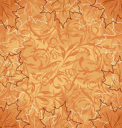 Autumnal maple seamless floral background vector image vector image