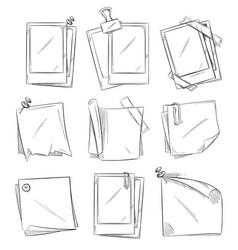 blank vintage photo frames doodle vector image