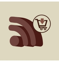 ecommerce with wifi connected icon vector image