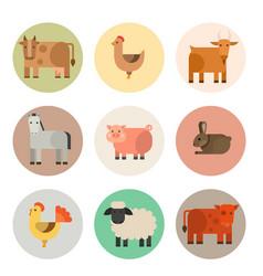 farm icon nature food vector image vector image