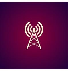 Antenna icon Flat design style vector image
