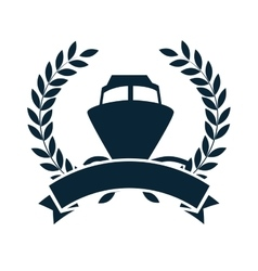 cruice boat travel isolated icon vector image