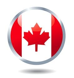 flag button Canada vector image vector image