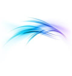 abstract smoke on white curves blue vector image vector image