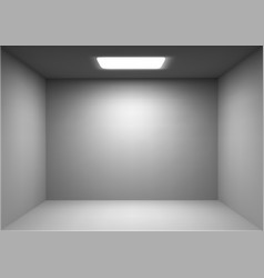 empty white room vector image