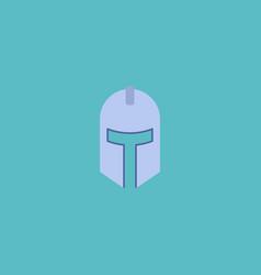 flat icon knight helmet element vector image vector image
