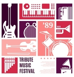 Music festival abstract background vector image vector image