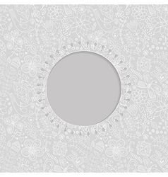 ornamental lace frame circle background with many vector image