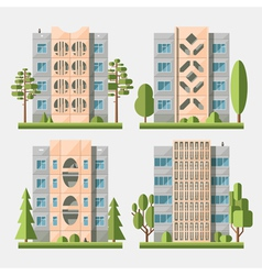 Panel houses flat set3 vector image