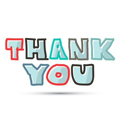 Thank You Title on White Background vector image