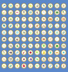 100 seo and web icons set cartoon vector
