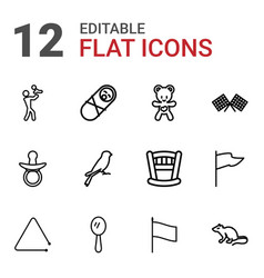 12 small icons vector