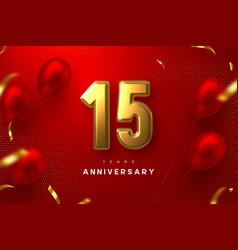 15 years anniversary celebration banner vector