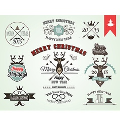 2015 Christmas decoration set of calligraphic and vector image