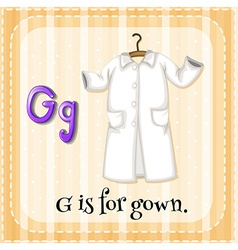 A letter G for gown vector