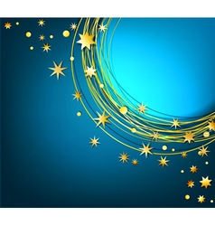 Abstract background with gold stars vector