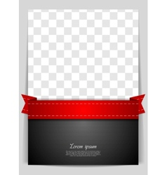 Abstract background with red ribbon vector