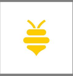 abstract bee and honey logo symbols vector image
