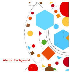 Abstract geometric forms background constructivism vector