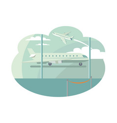 airport transportation set vector image