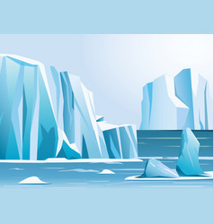Arctic landscape iceberg and vector
