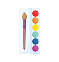 back to school paintbrush color palette artistic vector image
