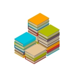 Big set of books tutorials Isometric flat vector image