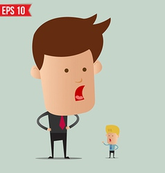 Business man and arguement - - EPS10 vector